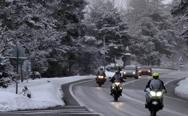 Nieve en San Rafael (Segovia)