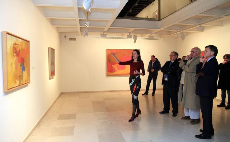 Inauguración de la exposición 'Esteban Vicente, la pintura tiene que ser pobre'