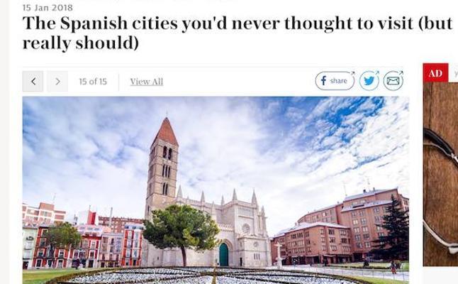 'The Telegraph' recomienda viajar a Valladolid, Segovia, León y Salamanca