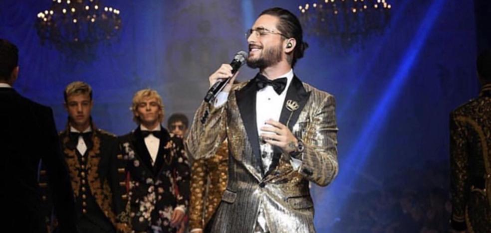 Maluma cierra con broche de oro el desfile de Dolce&Gabbama Otoño/Invierno 2018/19