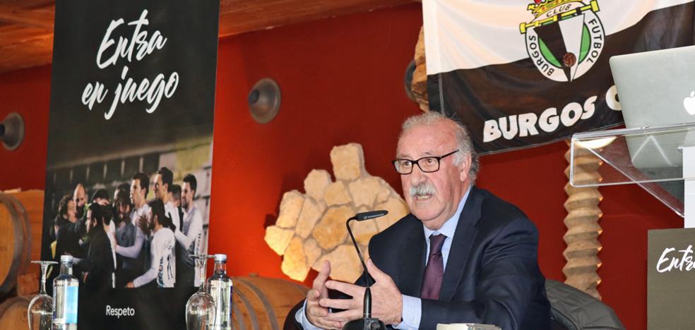 Alegato de Del Bosque a favor de Villar durante la presentación de la Fundación del Burgos CF