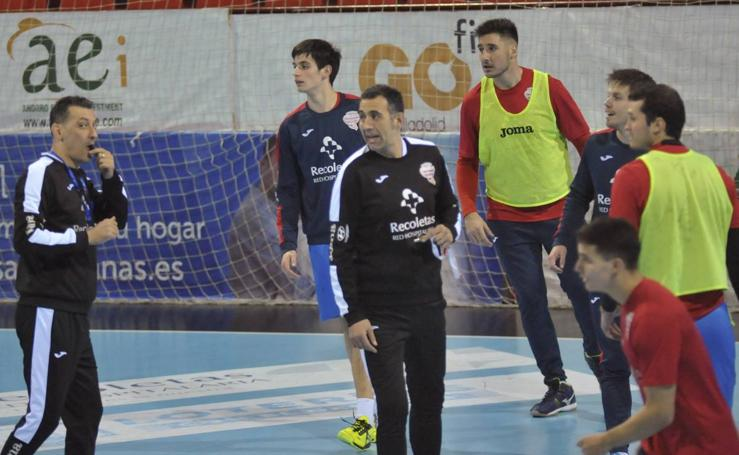 David Pisonero entrena al Recoletas Atlético Valladolid