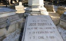 Zorrilla recibirá el penúltimo homenaje con una ofrenda floral y parada poética en el cementerio