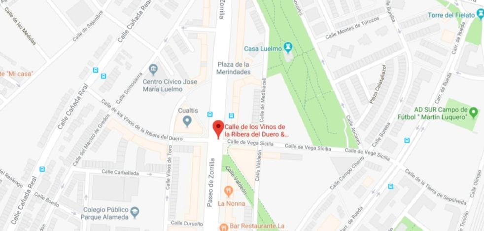 Herido un ciclista tras colisionar con un turismo en Valladolid