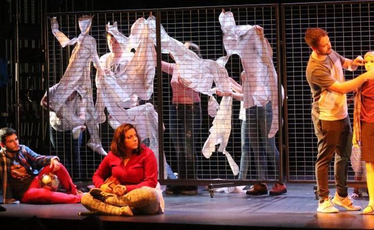 Ensayo de 'Fuegos', tercera obra del proyecto La Nave del Teatro Calderón de Valladolid