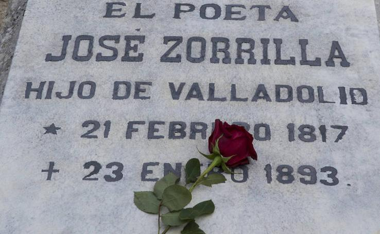 Homenaje a José Zorrilla en el Cementerio de El Carmen