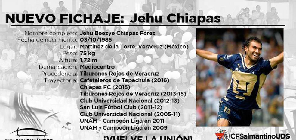 El CF Salmantino se hace todavía más mexicano con las llegadas de Jehu Chiapas y David Izazola