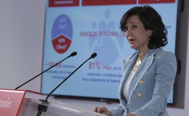 Botín rechaza un recargo a la banca porque Santander «ha ayudado» a dar estabilidad