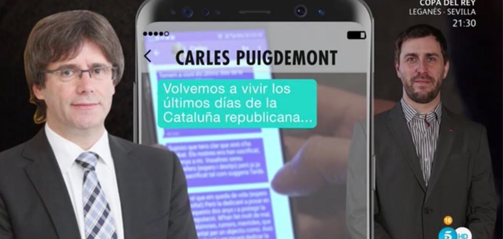 Puigdemont, en un mensaje de móvil: «Esto ha terminado; los nuestros nos han sacrificado»