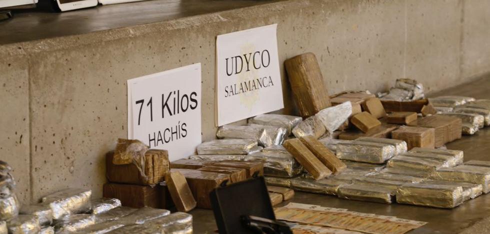 La Policía se incauta de 71 kilos de hachís en San José