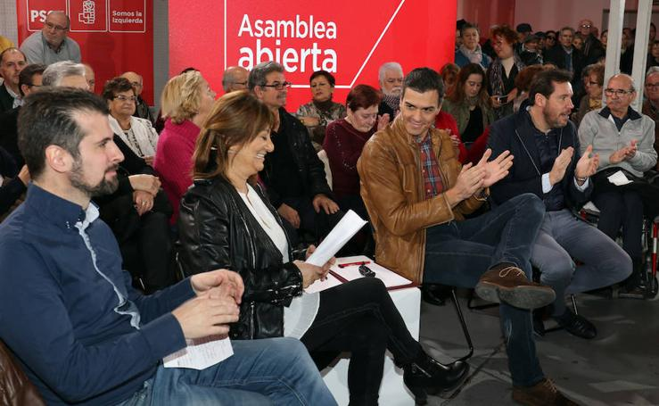 Pedro Sánchez, en la asamblea abierta celebrada en Valladolid