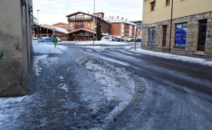Tras la nieve, llega el hielo a la Montaña Palentina