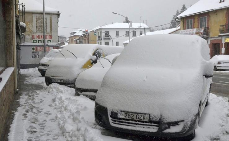 Nieve en la provincia de Segovia