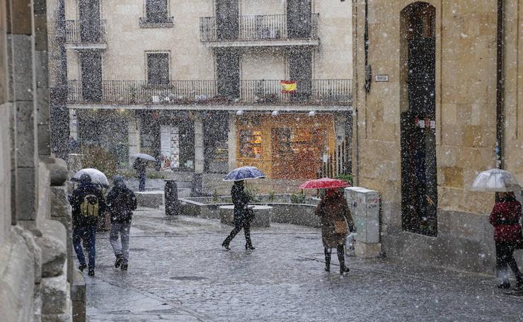 La nieve llega a Salamanca