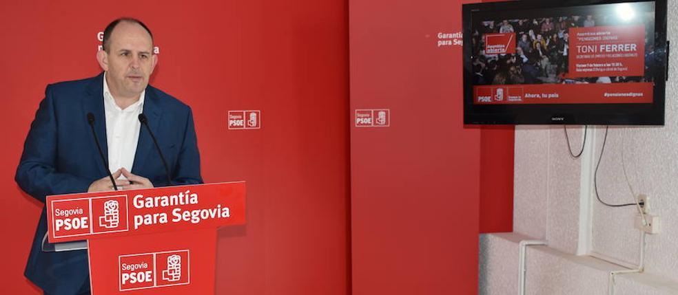 El PSOE convoca una «asamblea abierta» en Segovia para la defensa del sistema de pensiones