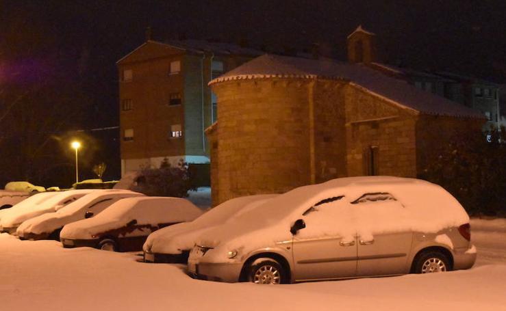 La nieve en Aguilar en los dos últimos días