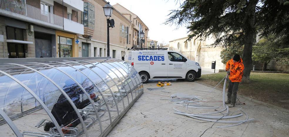 Los aparcamientos para bicis se blindan contra el vandalismo en Palencia