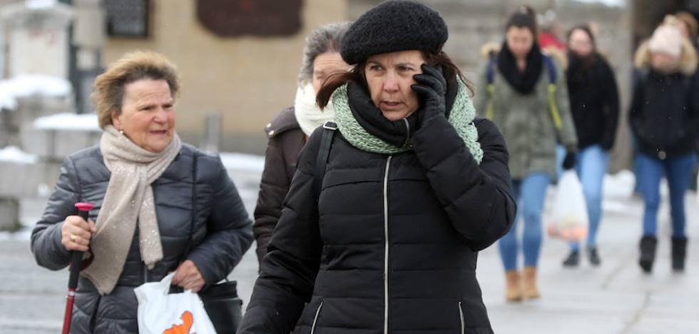 Segovia tirita bajo cero