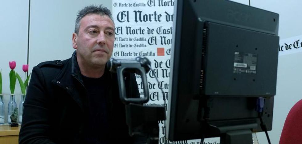 Fernando de la Cal, alcalde de Aldeamayor de San Martín, el jueves en el videochat