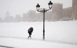 La Aemet prevé para el lunes nieve en el norte de Burgos, León, Palencia, Ávila y Segovia