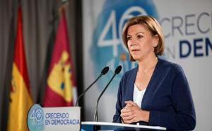 Cospedal critica el acuerdo entre Podemos y Ciudadanos para reformar la ley electoral