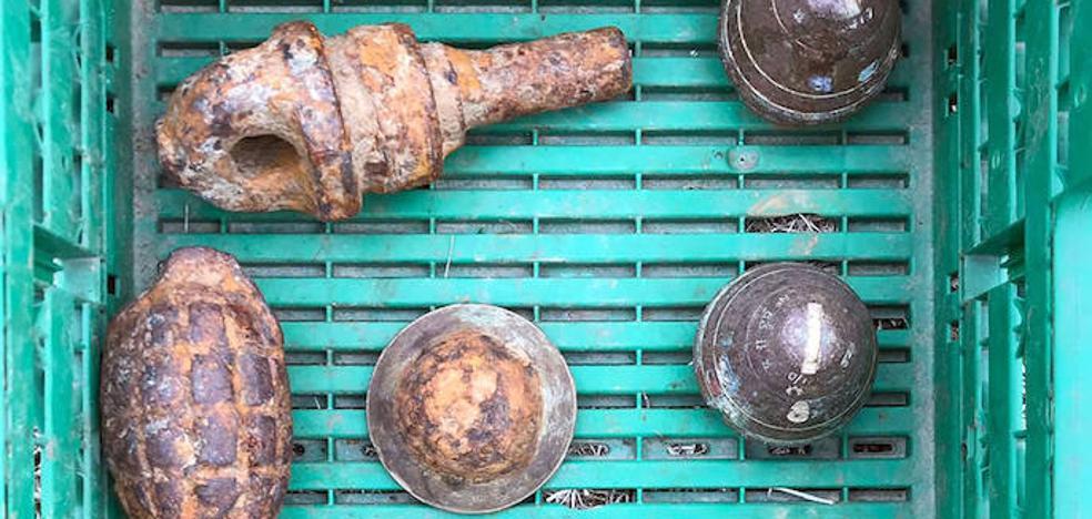 Hallan munición de la II Guerra Mundial en un cargamento de remolacha en Sanchonuño