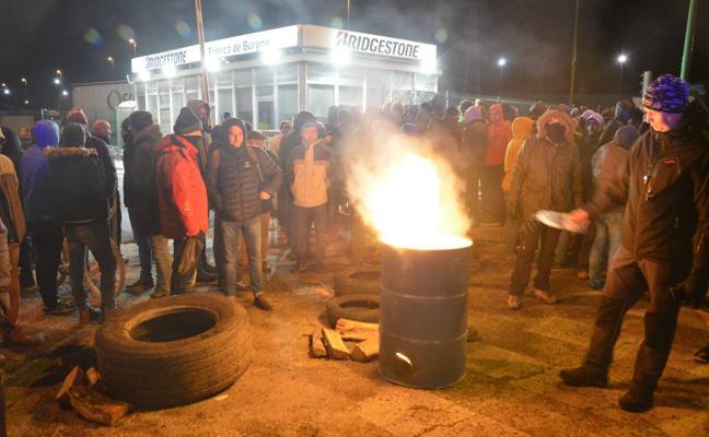 Huelga de los trabajadores de Bridgestone en Burgos