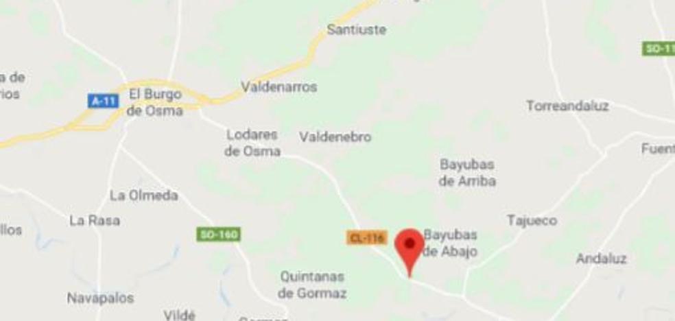 Una veintena de vehículos continúan retenidos en la CL-116 cerca de Bayubas por un accidente múltiple