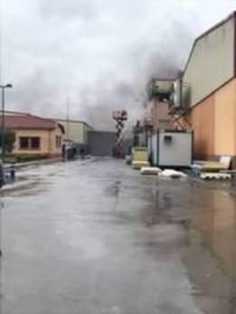 Desalojan la fábrica Precocinados Fuentetaja de Mudrián por un incendio