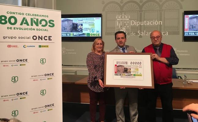 El cupón de la ONCE del día 25 divulgará las casas blasonadas de Miranda del Castañar