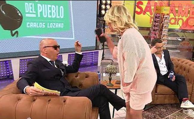 Mila Ximénez se enfrenta con Carlos Lozano y abandona 'Sálvame'