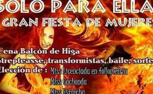 Polémica en Güímar por la fiesta para mujeres 'Miss Licenciada en Follometría' y 'Miss Cachonda'
