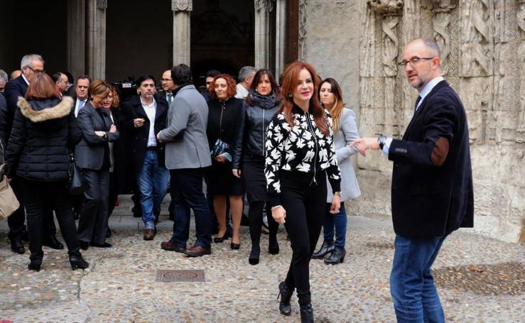 Reunión de la Mesa y Junta de Portavoces de las Cortes en el Colegio San Gregorio de Valladolid