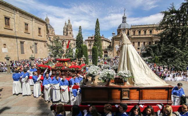 Programa de procesiones del Domingo de Resurrección, 1 de abril, en Salamanca