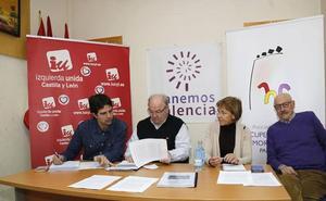El catálogo de restos franquistas en Palencia recoge 239 placas en edificios con el yugo y las flechas