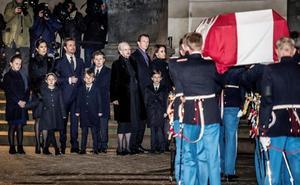 La Familia Real Danesa despide a Enrique de Dinamarca