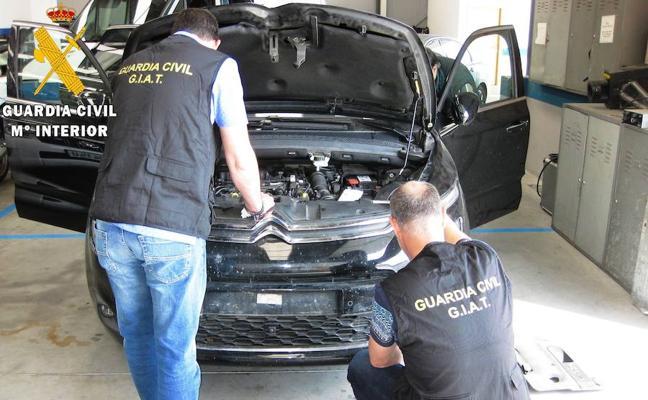 Desarticulada una organización dedicada a la venta en España de vehículos robados en la UE