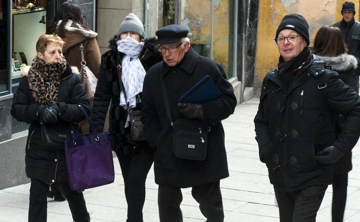Jornada de frío intenso en Segovia