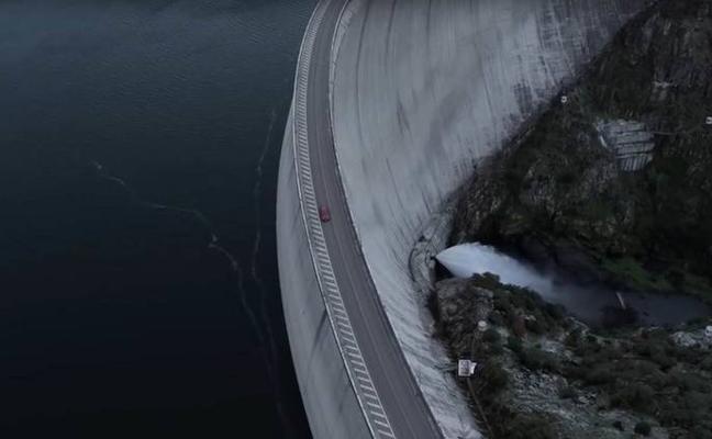 La presa de la Almendra acoge el rodaje de un spot de Peugeot