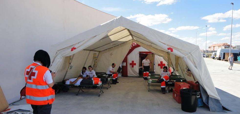 Cruz Roja ultima los preparativos para prestar asistencia sanitaria en la fiesta de la Politécnica