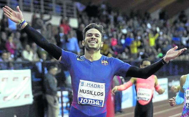 Óscar Husillos, con la vista puesta en la meta
