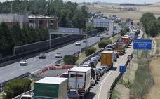 Unanimidad de las Cortes para buscar una solución para un tercer carril en la A-62 en Simancas