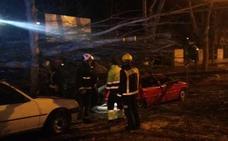 Cae un árbol sobre varios coches aparcados en Prado de la Magdalena
