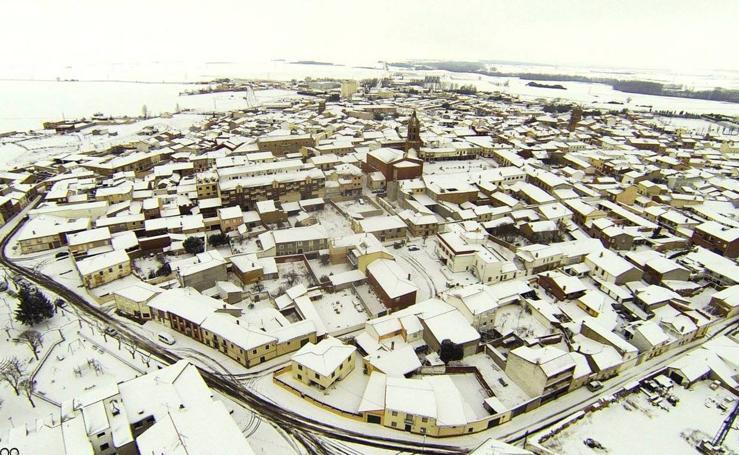 Así recibió a la nieve la provincia de Valladolid