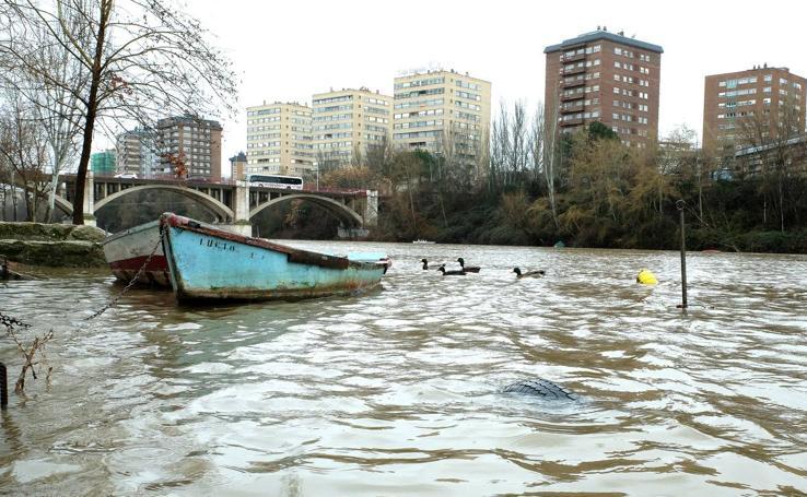 Aumenta el caudal de los ríos en Valladolid por las lluvias
