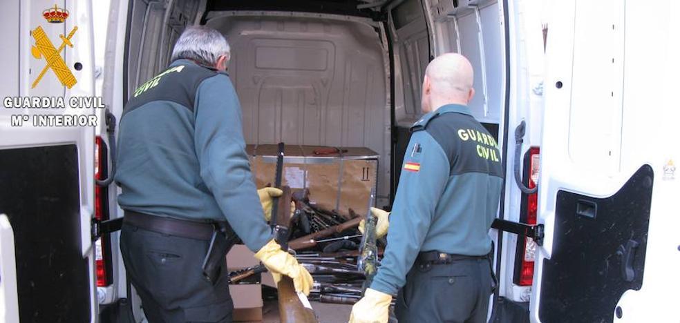 La Guardia Civil de Palencia destruye 620 armas