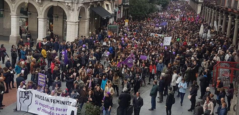 Así hemos emitido en vídeo la manifestación de las mujeres en Valladolid