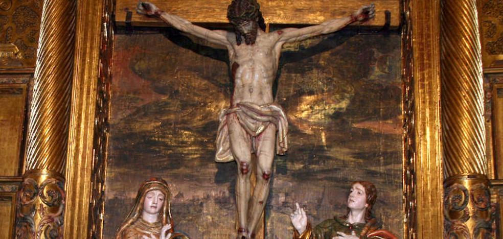 El Cristo del Calvario de Cuéllar se libra de los xilófagos