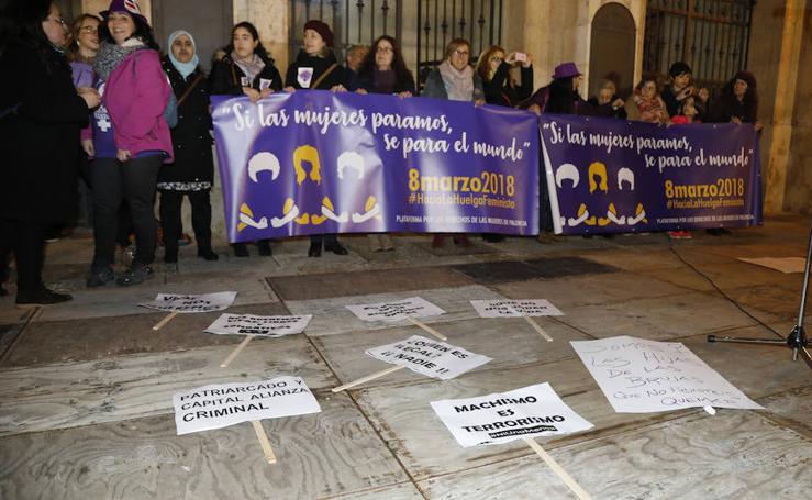 El colofón reivindicativo del 8-M en Palencia