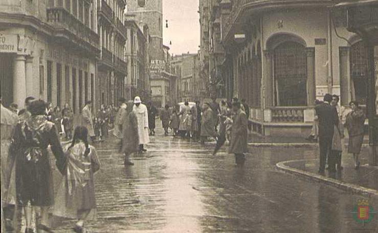 Días de lluvia en el Valladolid antiguo